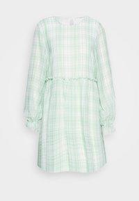 EDWINA DRESS - Day dress - white/green