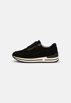 LEATHER - Sneakers laag - black