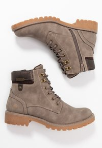 Dockers by Gerli - Lace-up ankle boots - taupe/braun - 3