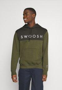Nike Sportswear - HOODIE - Hoodie - twilight marsh/white - 0