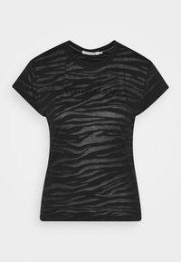 Calvin Klein Jeans - BURN OUT ZEBRA LOGO - Print T-shirt - black - 5