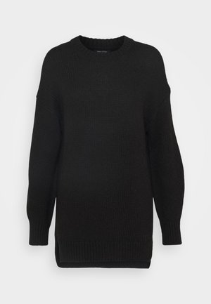 LONGSLEEVE ROUND NECK - Jumper - black
