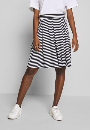 A-line skirt - dark blue/white