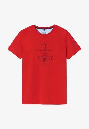 T-shirt print - dark red
