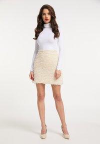 faina - A-line skirt - champagner - 1