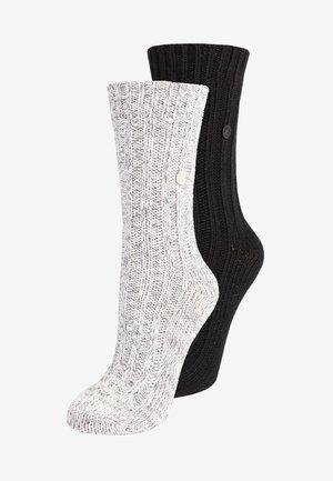 XMAS BOX BLING 2 PACK - Socks - gray/white/black