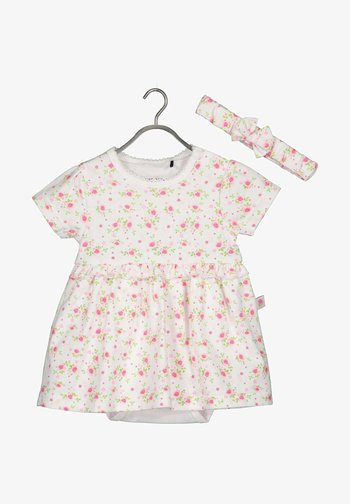 ROMANTIC ROSES - Day dress -  weiss aop