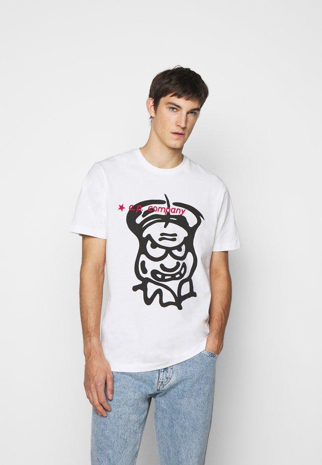T-shirt imprimé - gauze white