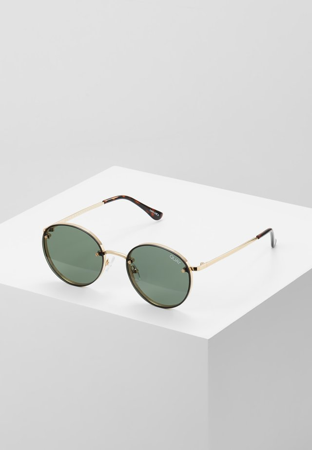 FARRAH - Lunettes de soleil - gold-coloured/green