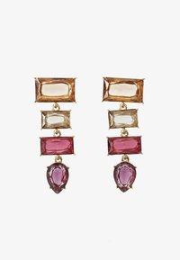 Pieces - PCKRYSTALOS EARRINGS - Earrings - gold-coloured/red - 1