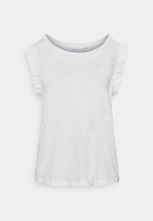 PHIL FRILL - Print T-shirt - cream white