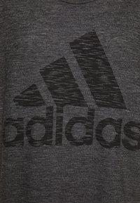adidas Performance - WIN TEE - T-shirts med print - black - 2