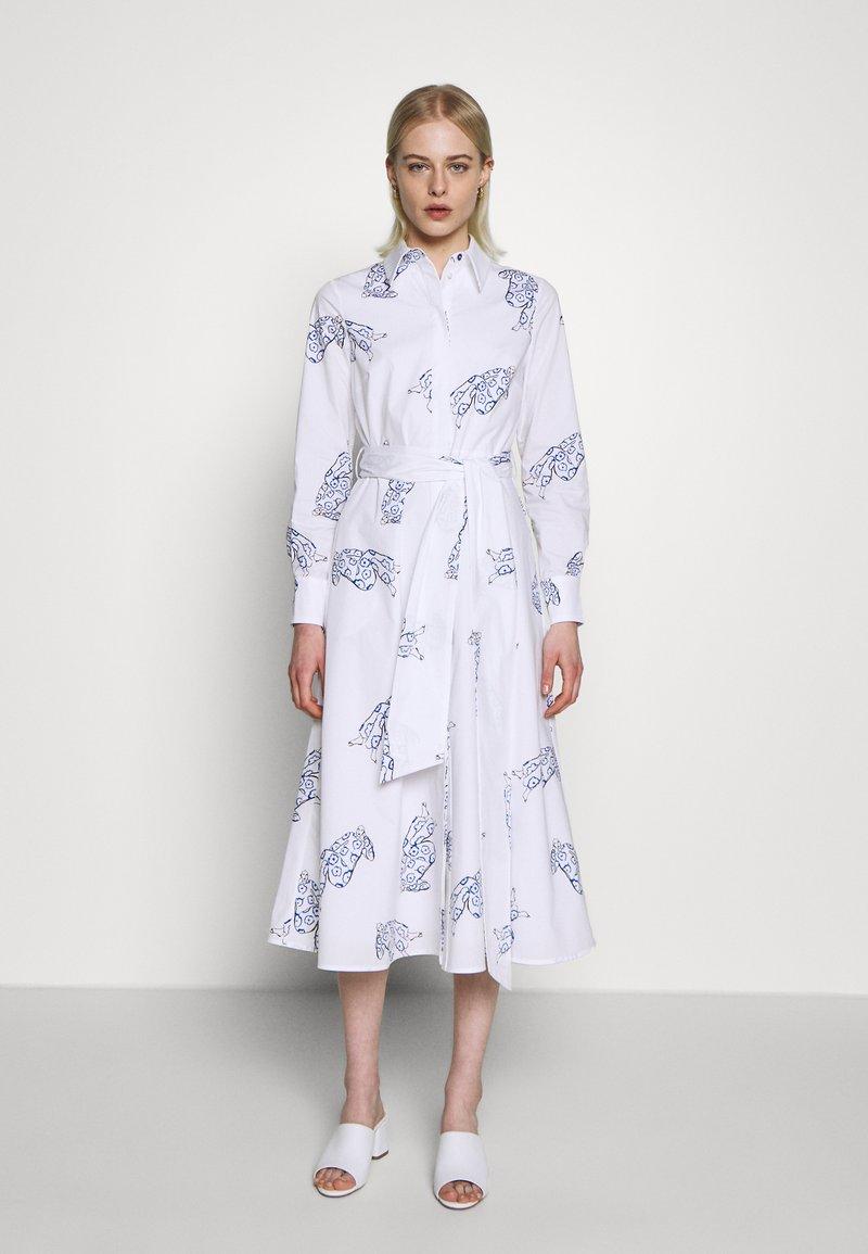 IVY & OAK - MIDI DRESS - Korte jurk - bright white