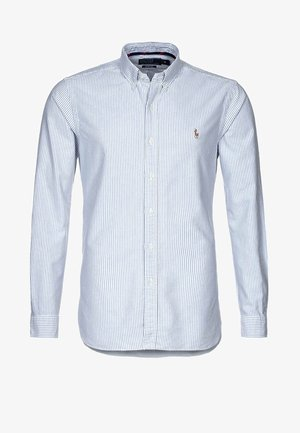 SLIM FIT - Shirt - blue/white