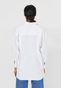 Stradivarius - Button-down blouse - white - 2