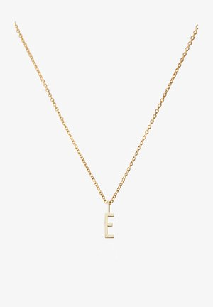 10MM A-Z CHARM WITH 45CM NECKLACE - GOLD - Ketting - gold
