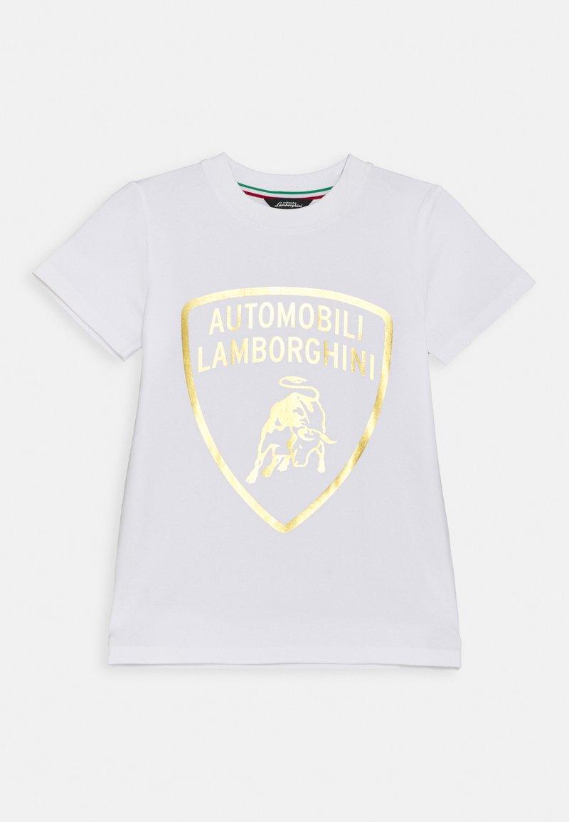 Automobili Lamborghini Kidswear - SHIELD - Print T-shirt - white