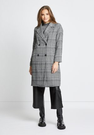 ONLARABELLA CHECK COAT - Kåpe / frakk - black/cloud dancer
