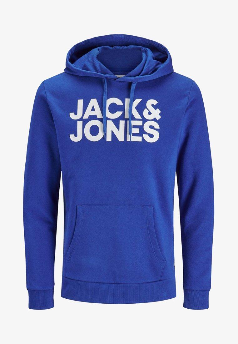 Jack & Jones JJECORP LOGO HOOD - Kapuzenpullover - navy/blue denim pW9WpK