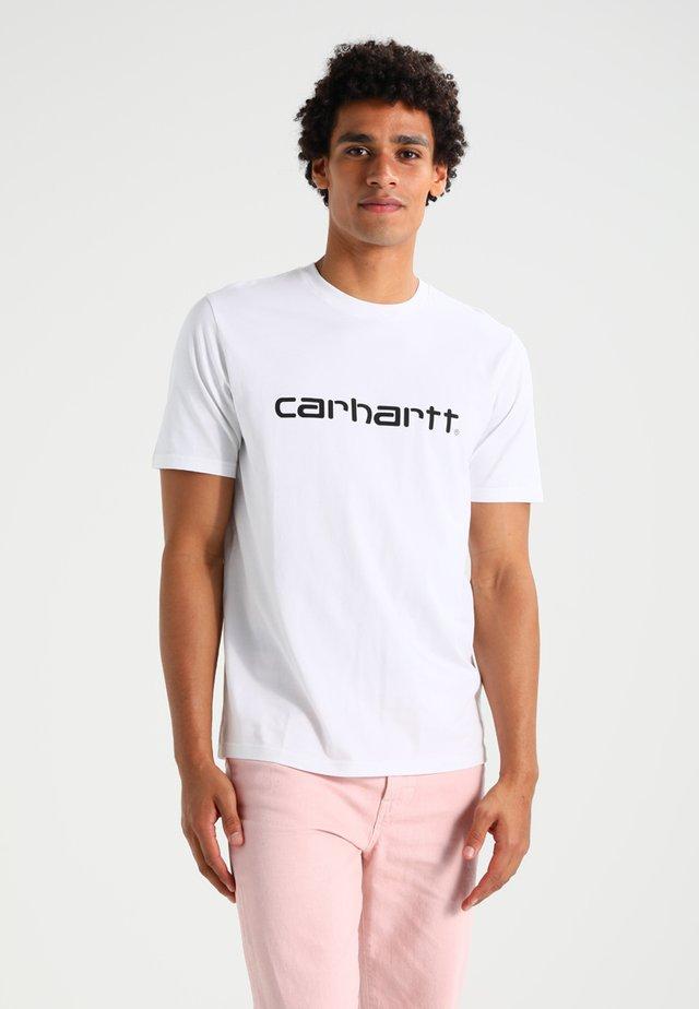 SCRIPT - T-shirt imprimé - white/black