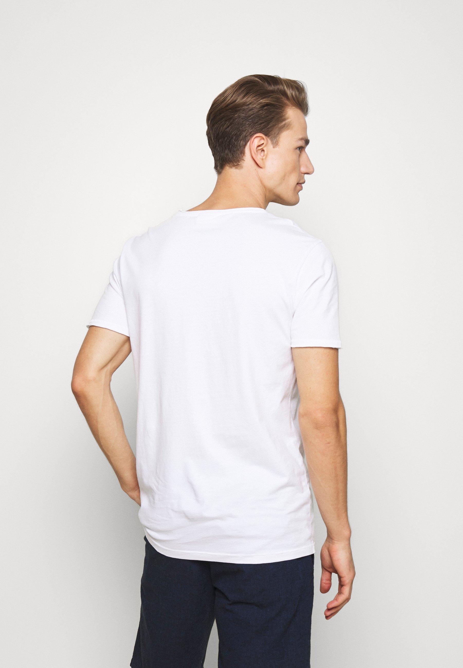 Lindbergh WASHED TEE - Basic T-shirt - white TTi2X