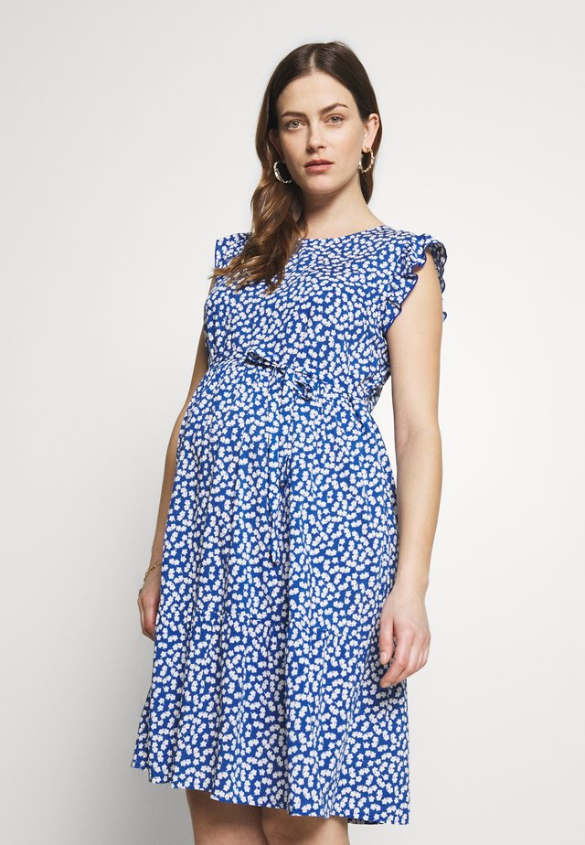 DITSY FLUTED SLEEVE DRESS - Vardagsklänning - blue