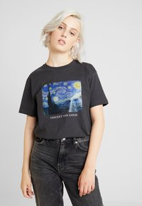 Even&Odd - T-shirts med print - anthracite - 0