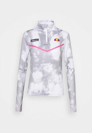 FREILO ZIP - Long sleeved top - white