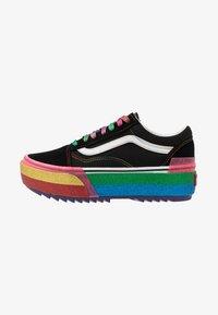 black/rainbow