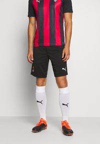 Puma - AC MAILAND TRAINING SHORTS - Sports shorts - black - 0