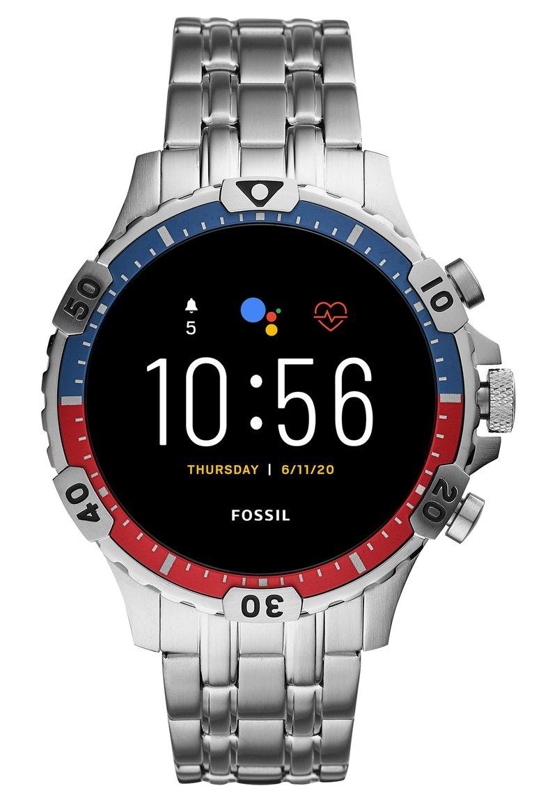 Fossil Smartwatches - GARRETT HR - Smartwatch - silver