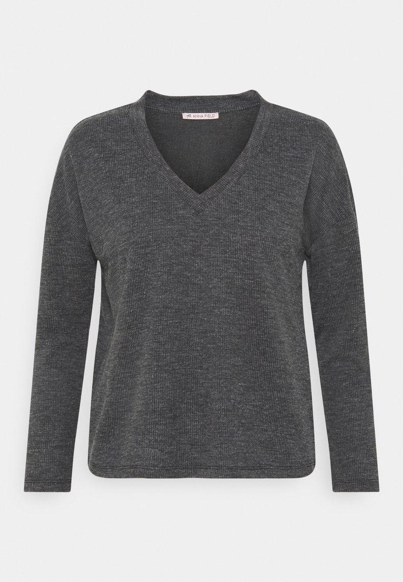Anna Field - Langærmede T-shirts - mottled grey