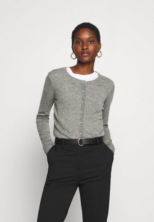 SOFT WOOL BLEND - Cardigan - medium grey melange