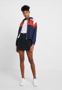 New Look - MOM SKIRT - Denim skirt - black - 2