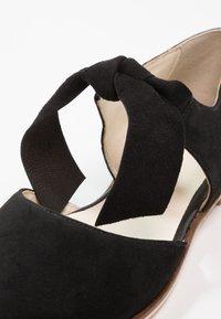 Anna Field - LEATHER ANKLE STRAP BALLET PUMPS - Baleríny s páskem - black - 2