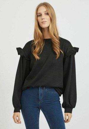 STRICK RÜSCHEN - Sweatshirt - black