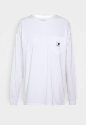 POCKET - Long sleeved top - white