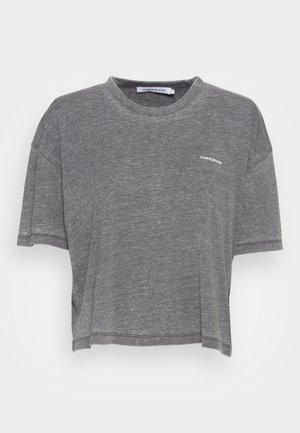 BURN OUT OVERSIZED TEE - Basic T-shirt - grey