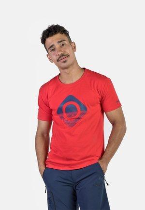 GRANBY - T-shirt imprimé - red/bluemoon