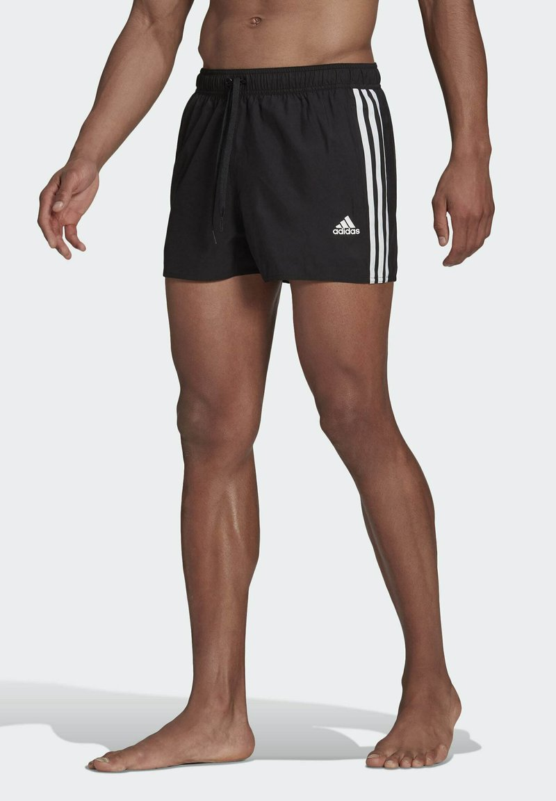 adidas Performance - 3 STRIPES CLASSICS PRIMEGREEN SWIM SHORTS - Swimming shorts - black