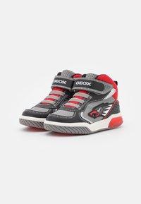 Geox - INEK BOY - High-top trainers - grey/red - 1
