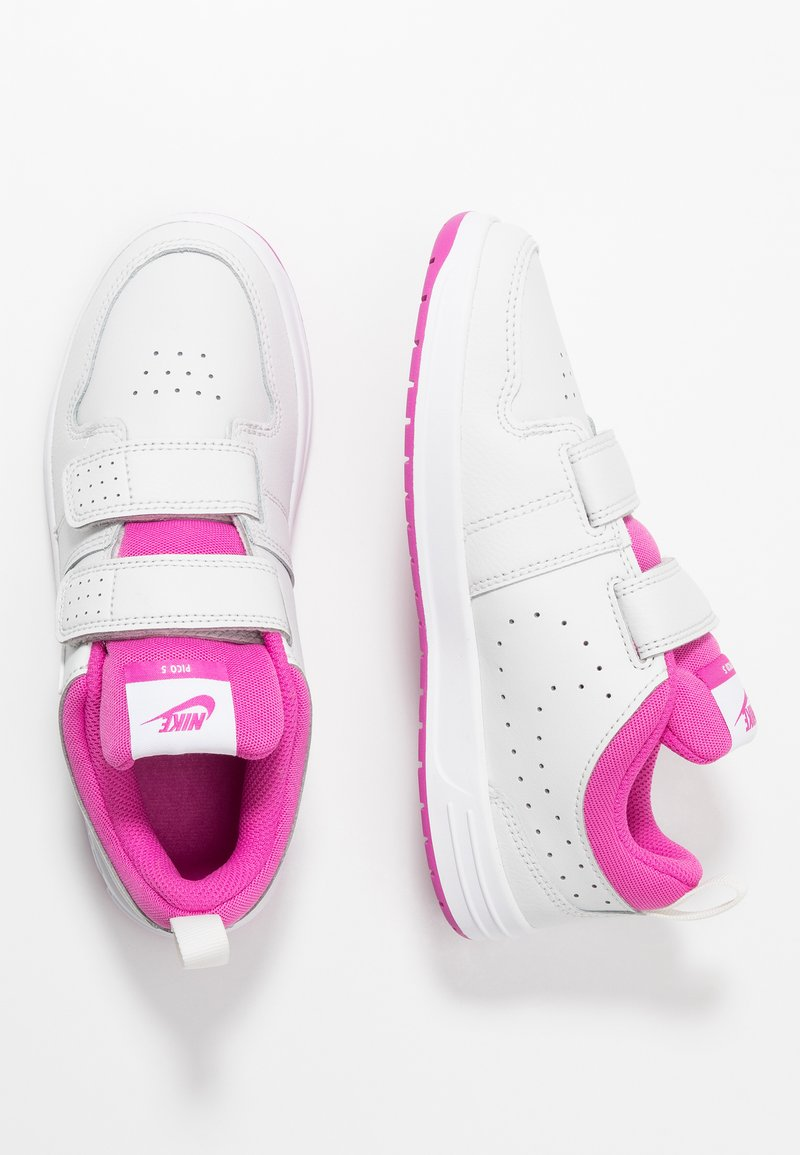 Nike Performance - PICO 5 UNISEX - Sports shoes - platinum tint/white/active fuchsia