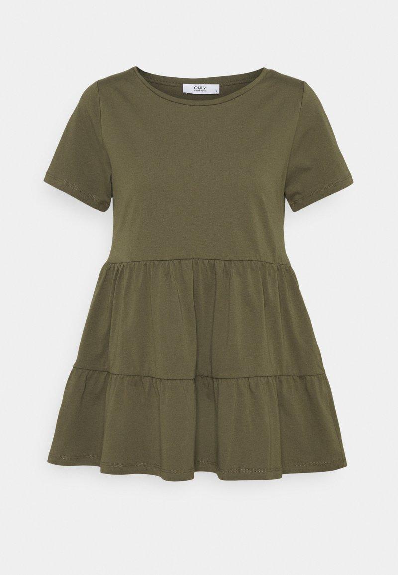 ONLY Tall - ONLAYCA PEPLUM - Basic T-shirt - kalamata
