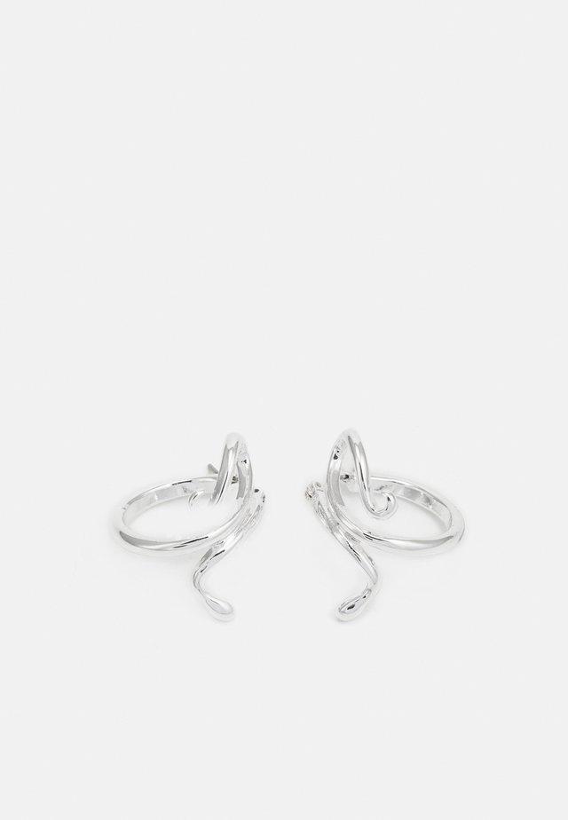 SNAKE HOOP EARRINGS - Ohrringe - silver-coloured