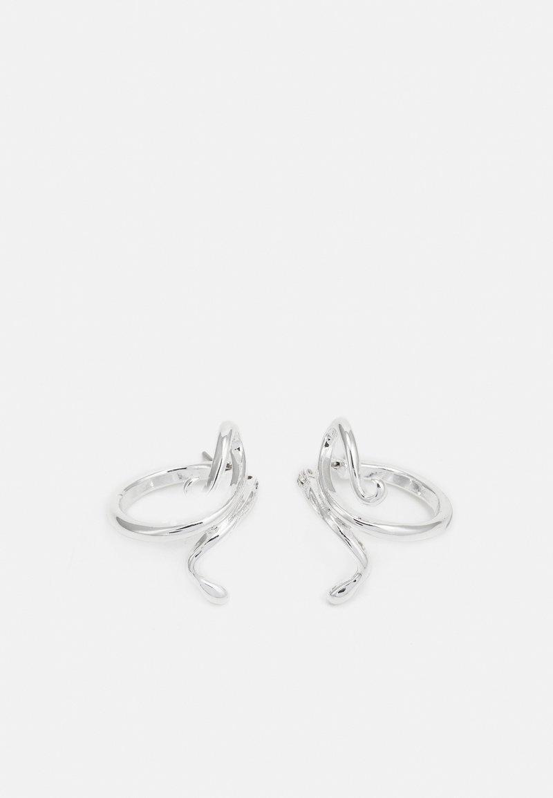 Weekday - SNAKE HOOP EARRINGS - Earrings - silver-coloured