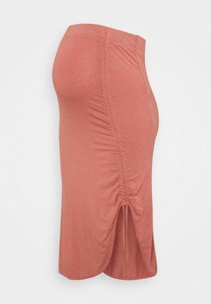 PCMNEORA STRING SKIRT - Pencil skirt - canyon rose