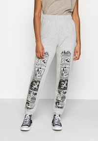 NEW girl ORDER - CONVERSATION JOGGERS - Tracksuit bottoms - grey - 0