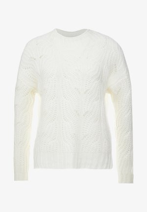 POINTELLE CABLE PULLOVER - Jumper - ivory