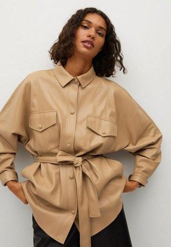 MAMASITA - Faux leather jacket - beige