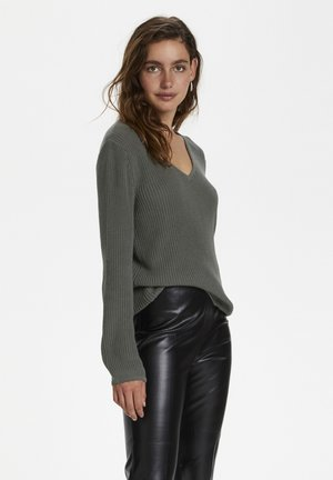 Strickpullover - brushed nickel
